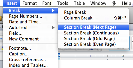 How to have page numbers start on page 3 using ms word 2011 for mac image ccuart Gallery